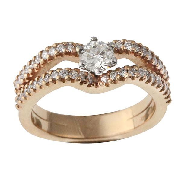 Bague Diamants et Or Rose
