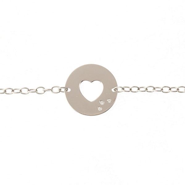 Bracelet Diamants Or Blanc