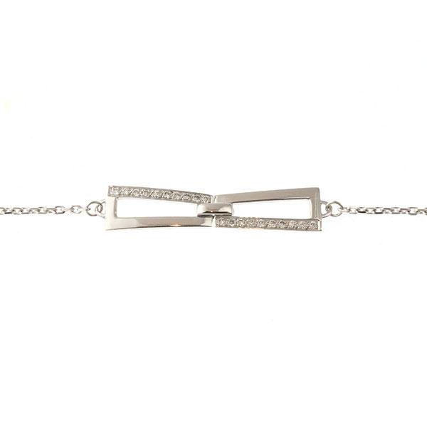 Bracelet Jaseron Or Blanc