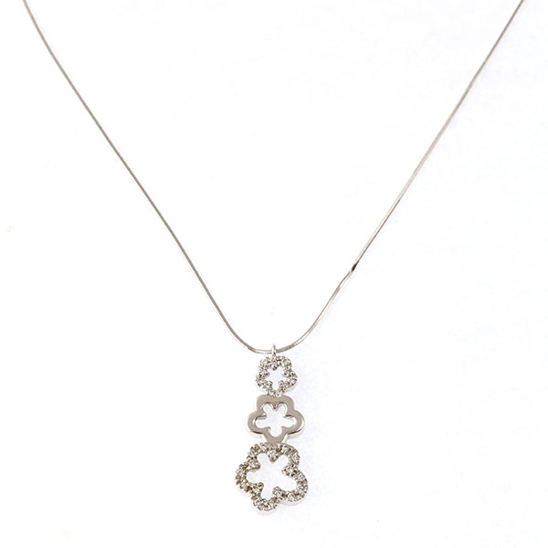 Pendentif Diamants, Or Blanc, Cha
